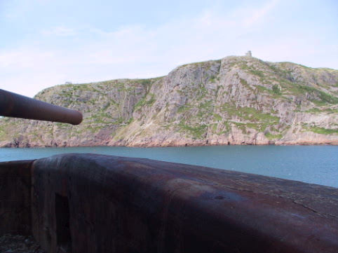 Signal Hill and Cabot Tower from a WWII bunker at Fort Amherst
